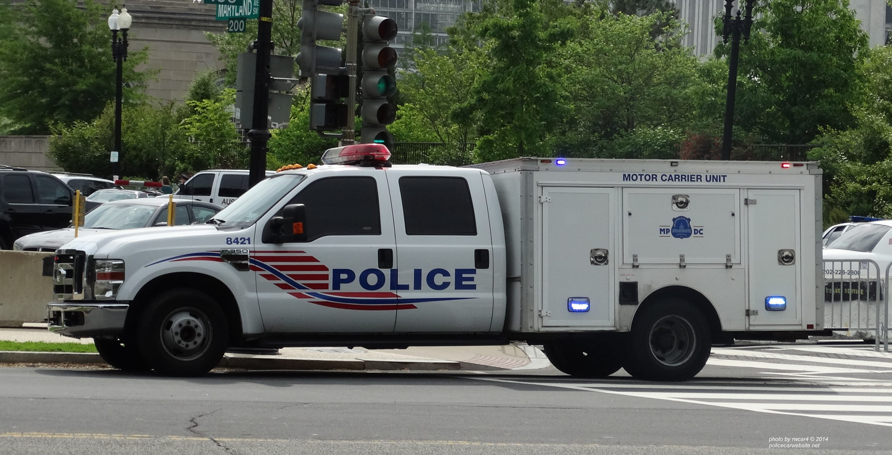 Police car website for Washington dc department of motor vehicles